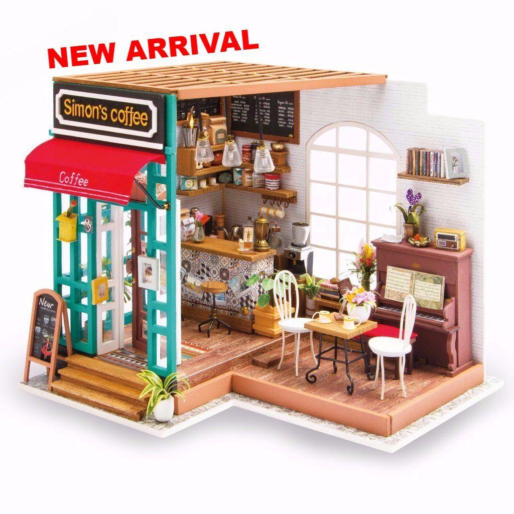 DIY MINIATURE HOUSE Cafeteria - Monte a sua