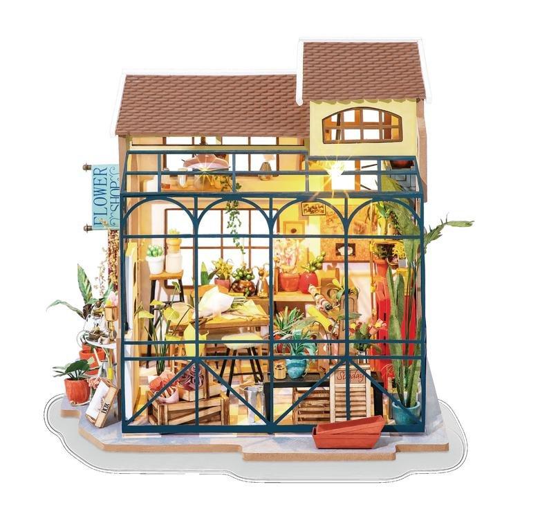 DIY MINIATURE HOUSE Flowershop - Monte a sua