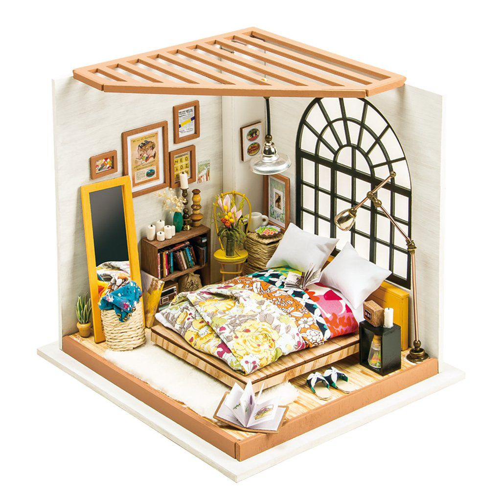 DIY MINIATURE HOUSE Quarto - Monte a sua