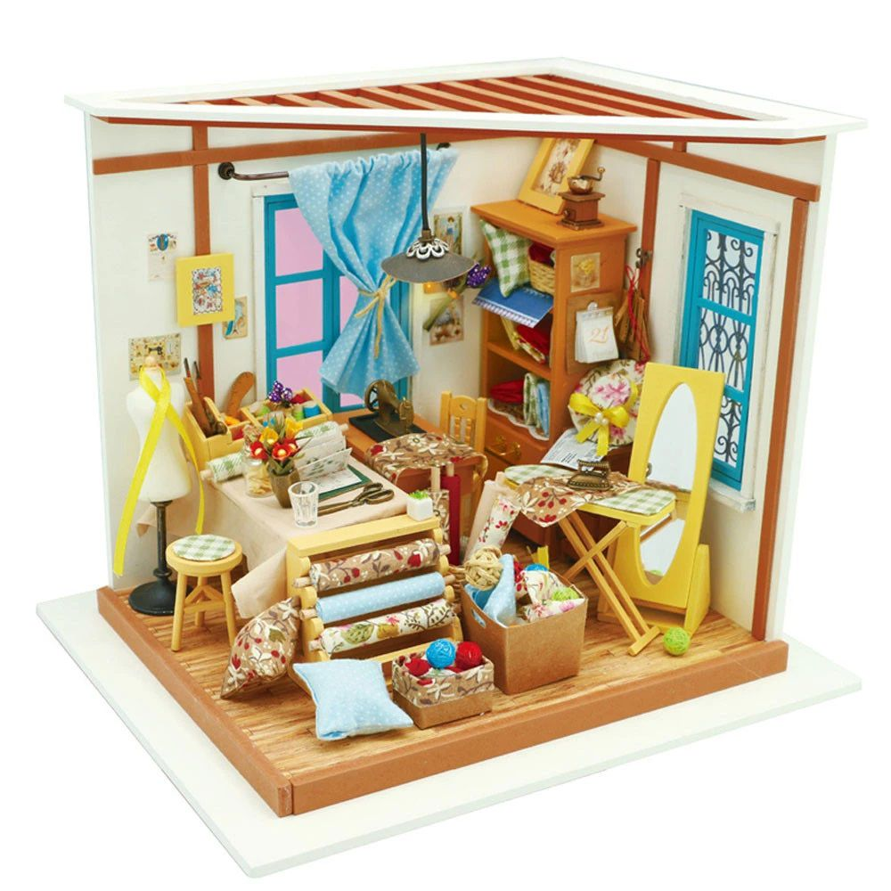 DIY MINIATURE HOUSE Sala de Costura - Monte a sua