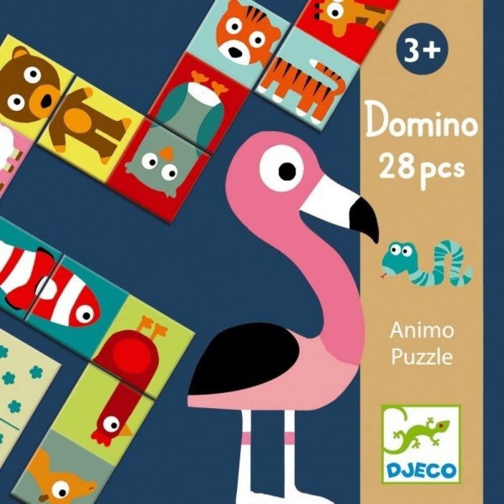 Dominó Animais Animo Puzzle - Djeco