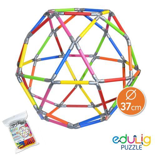 Desafio Edulig Criativo Puzzle 3D - Bola 10 Grande
