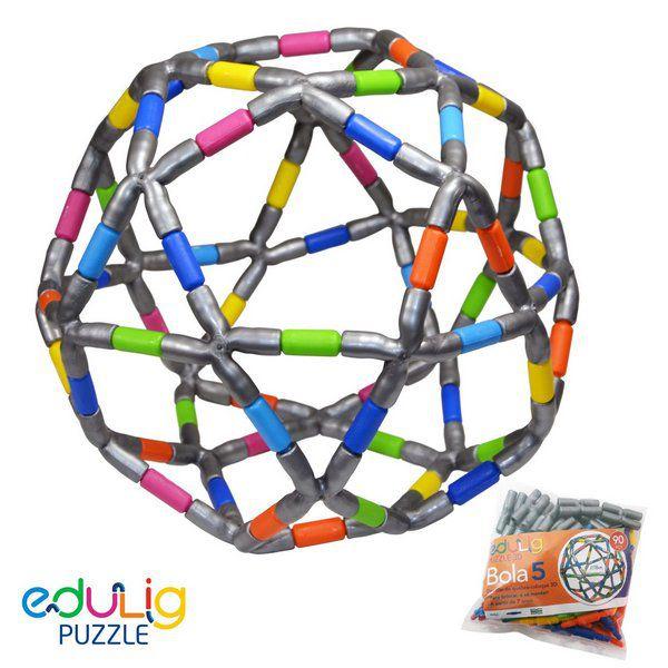 Desadio Edulig Criativo Puzzle 3D - Bola 5 Média