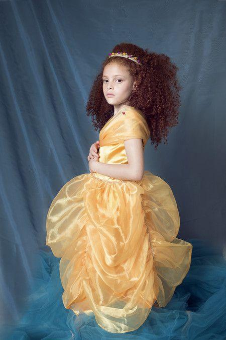 Vestido Bela - Bela e Fera - Luxo (4-6 anos)