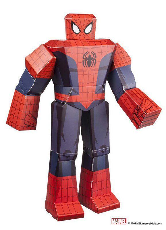 Figura De Dobrar BluePrints Marvel Homem Aranha 12
