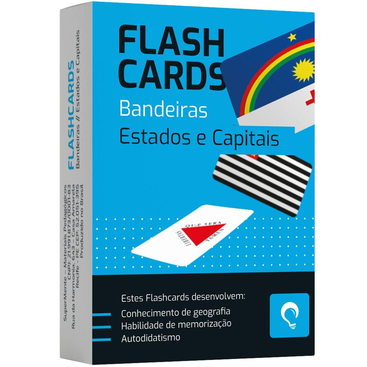 Flashcards Bandeiras Estados e Capitais