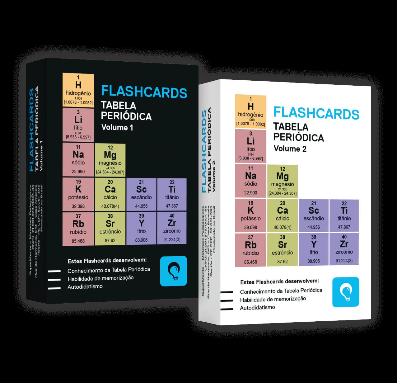 Flashcards Kit Tabela Periódica