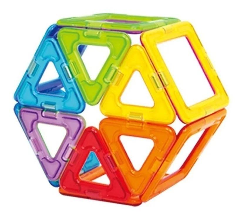 Formas Magnéticas (Blocos Magnéticos)  14 peças