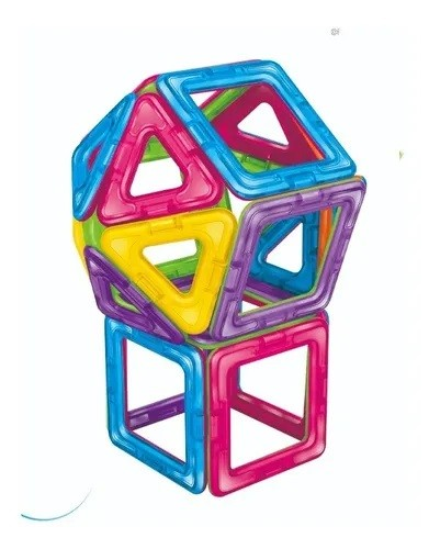 Formas Magnéticas (Blocos Magnéticos) - 30 peças