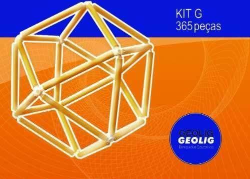 Geolig - Brinquedo construtivo 365 peças