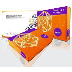 Geolig - Brinquedo construtivo 77 peças