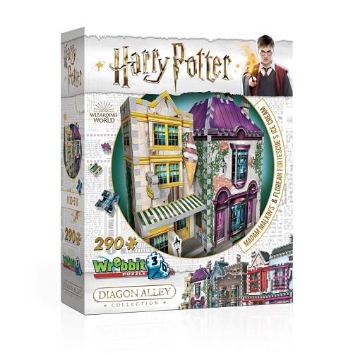 Harry Potter Madame Malkin e Sorveteria do Florean Fortescue Quebra-Cabeça 3D