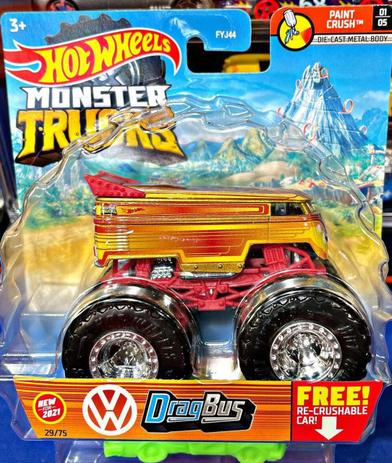 Hot Wheels Monster Truck 1:64 Drag bus