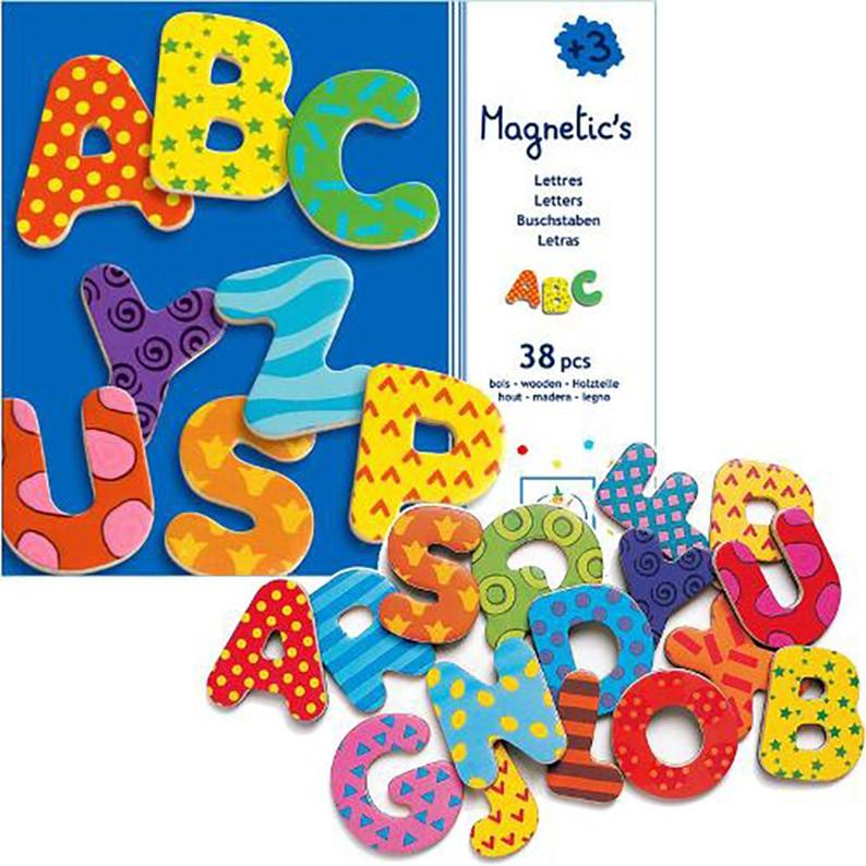 Imãs de Madeira - Alfabeto 38 letras grandes
