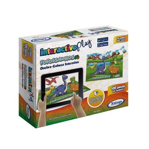 Interactive Play Kids - Quebra cabeça Fofossauros