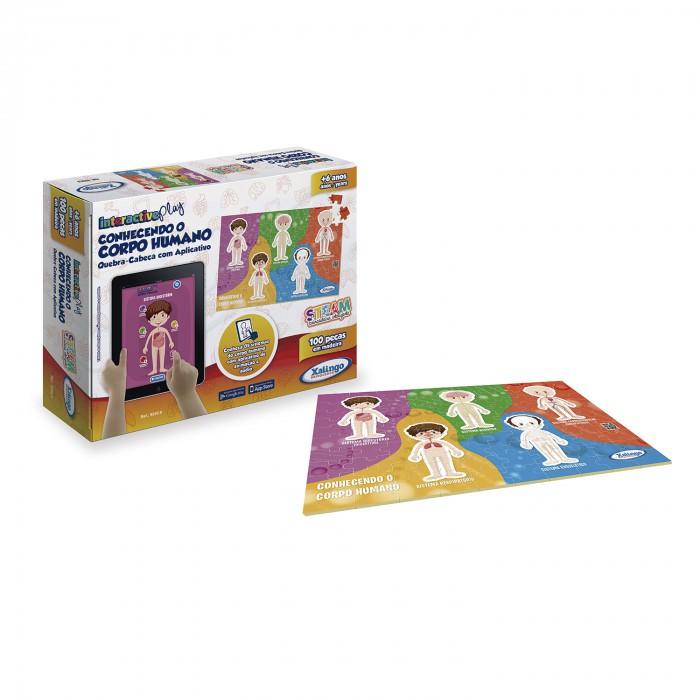 Interactive Play - Quebra cabeças Conhecendo o Corpo Humano - 100 peças