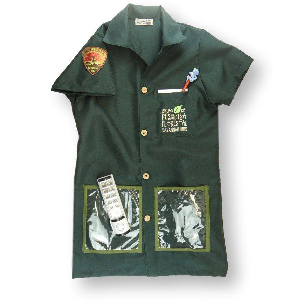 Jaleco Guarda Florestal com acessórios