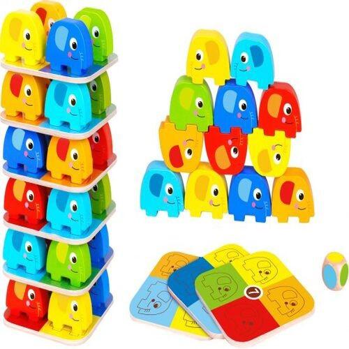 Jogo Empilhar Elefantes - Tooky Toy