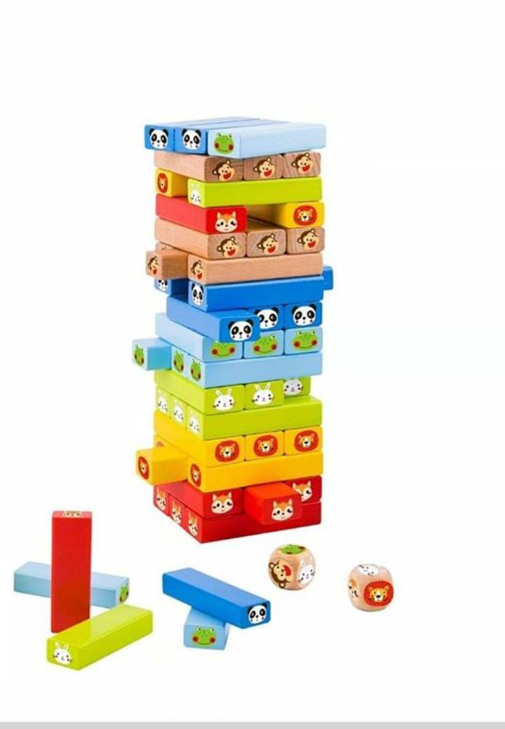 Jogo Jenga Animais - Tooky Toy