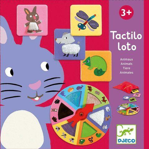 Jogo Loto Tátil Animais - Djeco