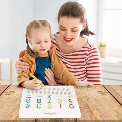 Jogo Lousa Magnética Dupla Face Letras e Números