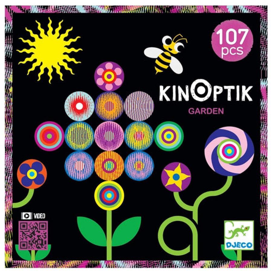 KINOPTIK Jardim - Jogo de Ilusão de òtica 107 peças - Djeco
