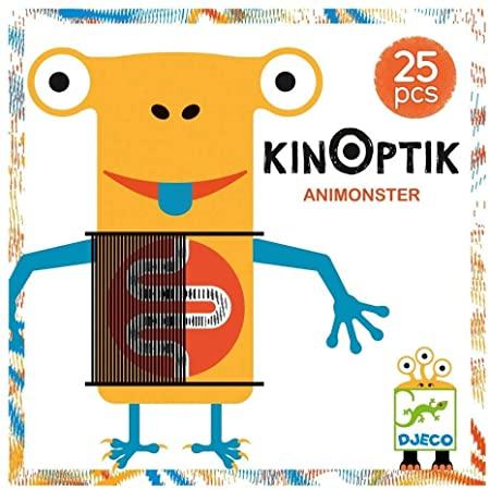 KINOPTIK Monstros - Jogo de Ilusão de òtica 25 peças - Djeco