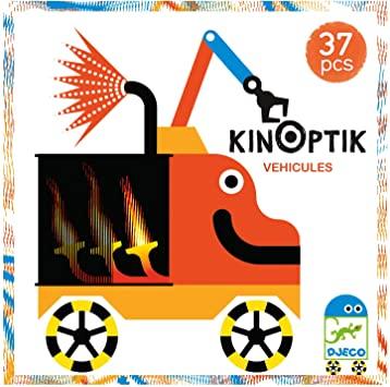 KINOPTIK Veículos - Jogo de Ilusão de òtica 37 peças - Djeco