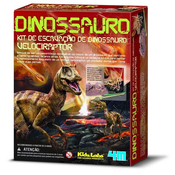 Kit Escavação de Esqueleto - Velociraptor - 4M