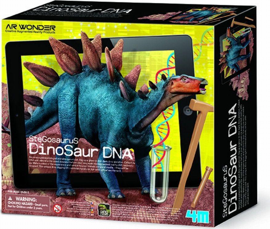 Kit Escavação e Realidade Aumentada Dino DNA  Estegossauro - 4M