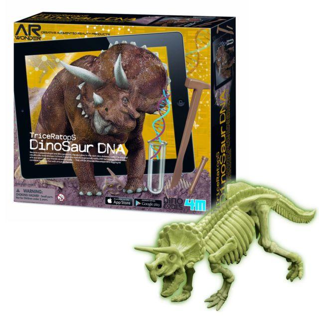 Kit Escavação e Realidade Aumentada Dino DNA  Triceraptor - 4M