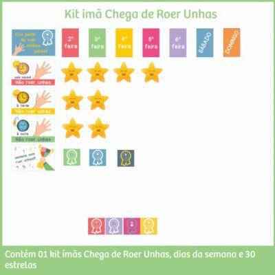 Kit Imãs de Incentivos - Chega de Roer Unhas