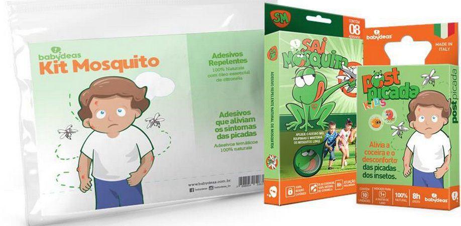 Kit Mosquito - Adesivo Repelente e pós picada