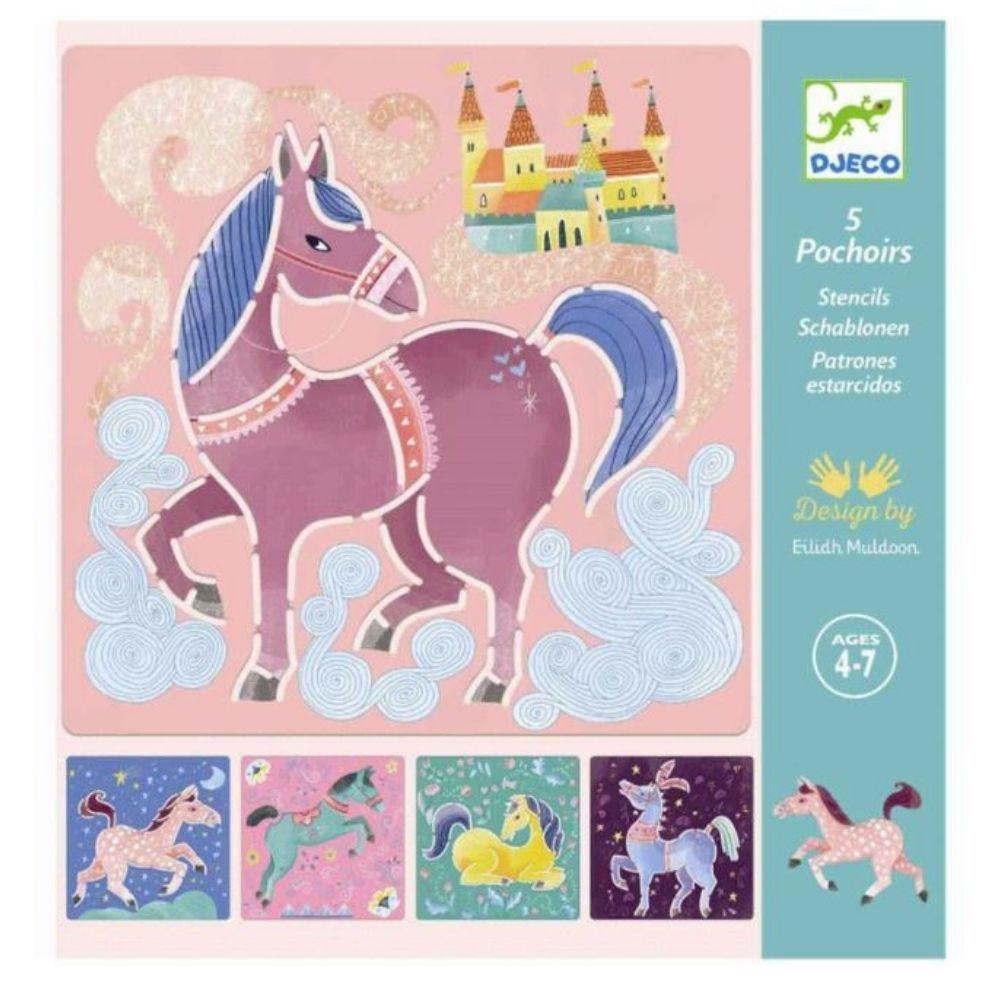 Kit Stencil Cavalos - Djeco