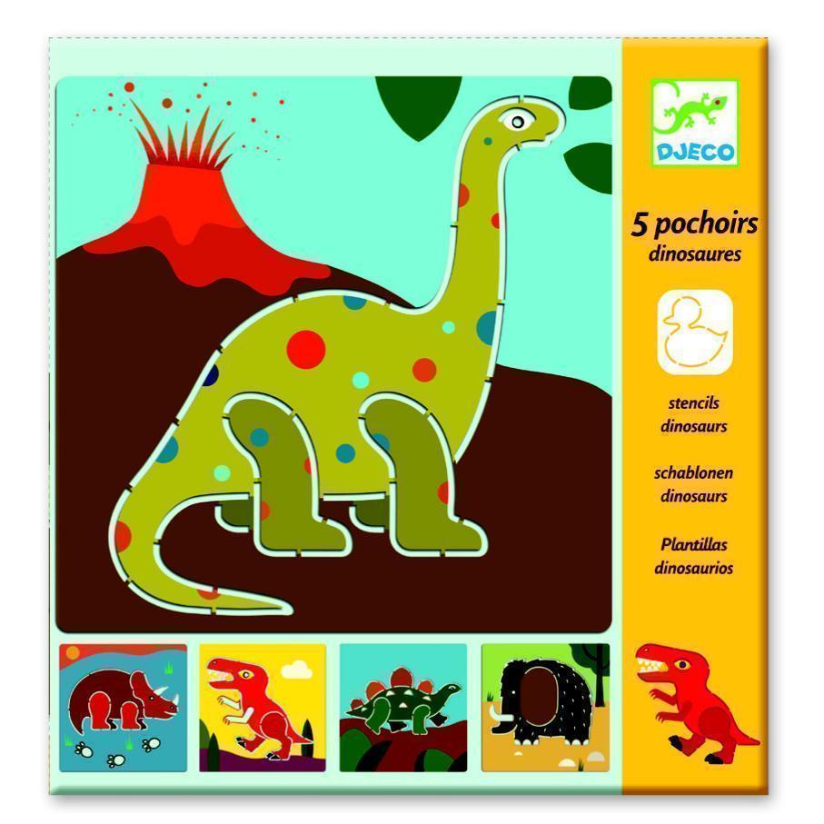 Kit Stencil Dinossauros - Djeco