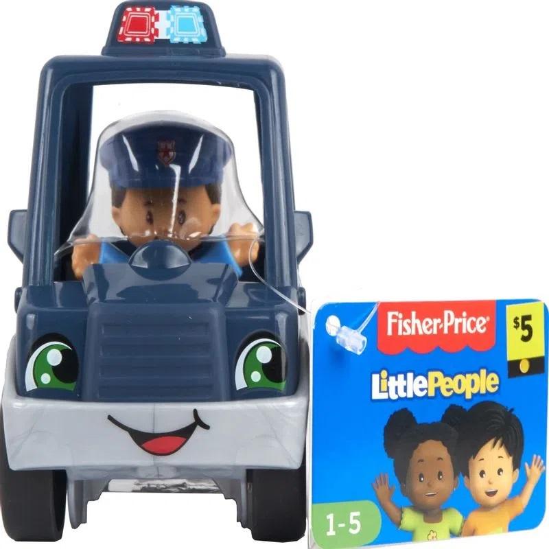 Little People - Mini Figura e Veículo - Carro de Polícia