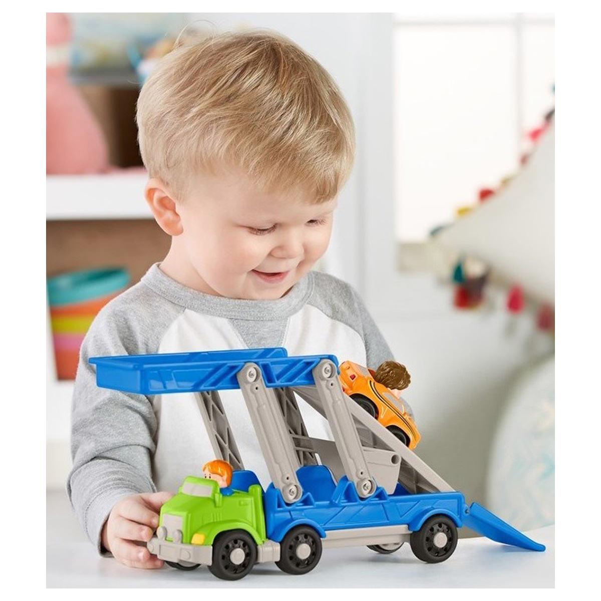 Little People - Mini Figura e Veículo - Caminhão cegonha