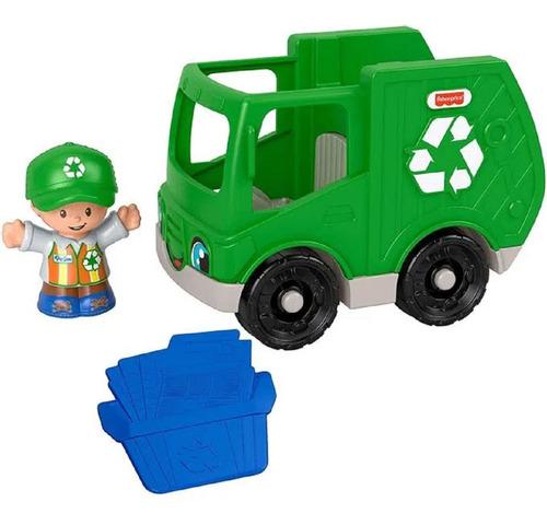 Little People - Mini Figura e Veículo -Caminhão Reciclagem