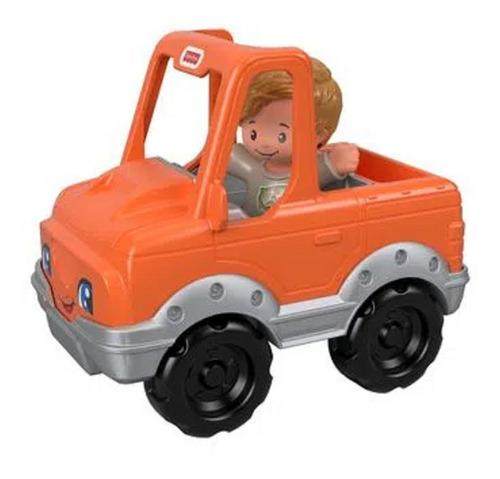 Little People - Mini Figura e Veículo - Carro Laranja