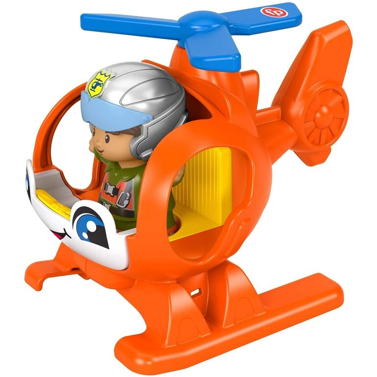 Little People - Mini Figura e Veículo - Helicóptero