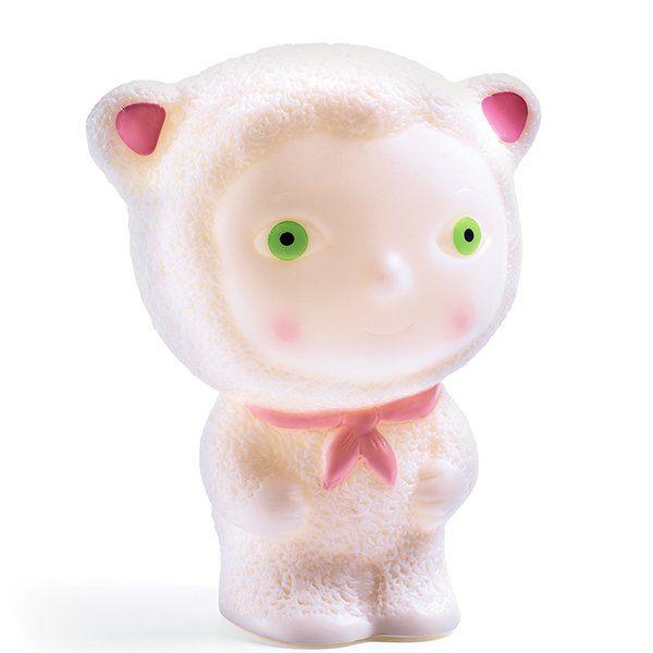Mini Luminária Led Djeco - Ursinho Retrô Rosa