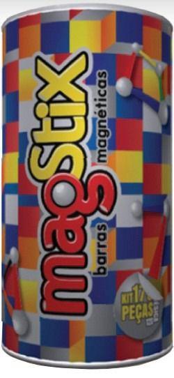 Barras Magnéticas com esferas Magstix - 56 peças