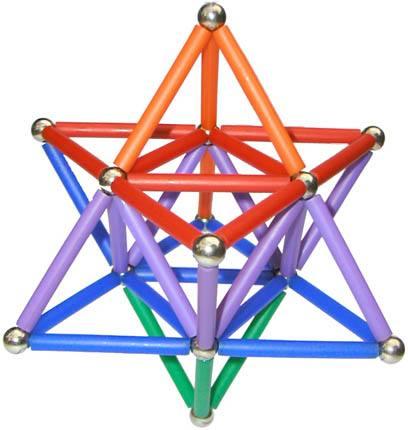 Barras Magnéticas com esferas Magstix - Super Kit Geodésia 130 peças