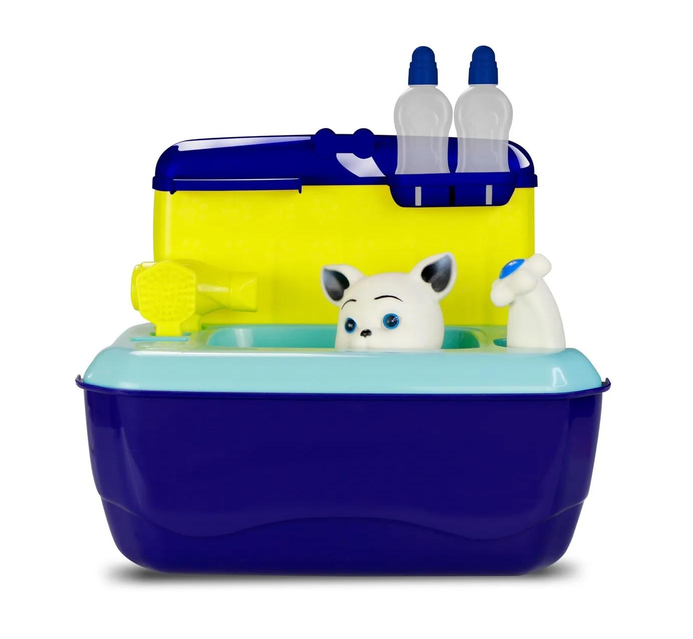 Maleta Pet Shop Hora do Banho Gatinho Azul