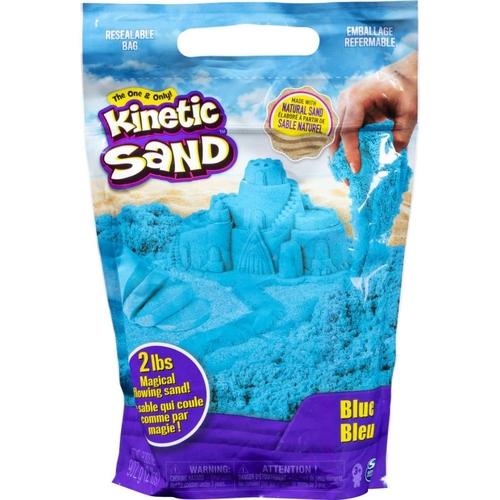 Massa Areia para Modelar Kinetic Sand Azul 906g  (areia cinética)