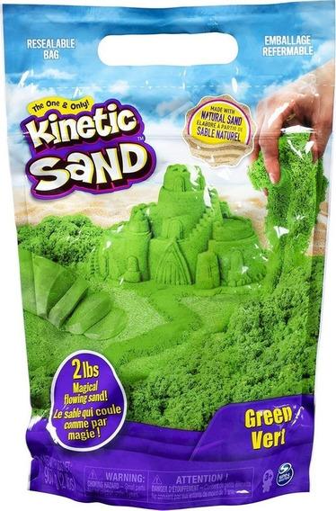 Massa Areia para Modelar Kinetic Sand Verde 906g  (areia cinética)
