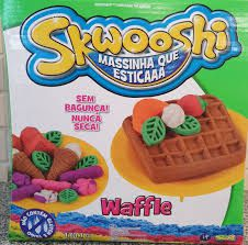 Massinha Skwooshi - Waffle (massa areia que estica)