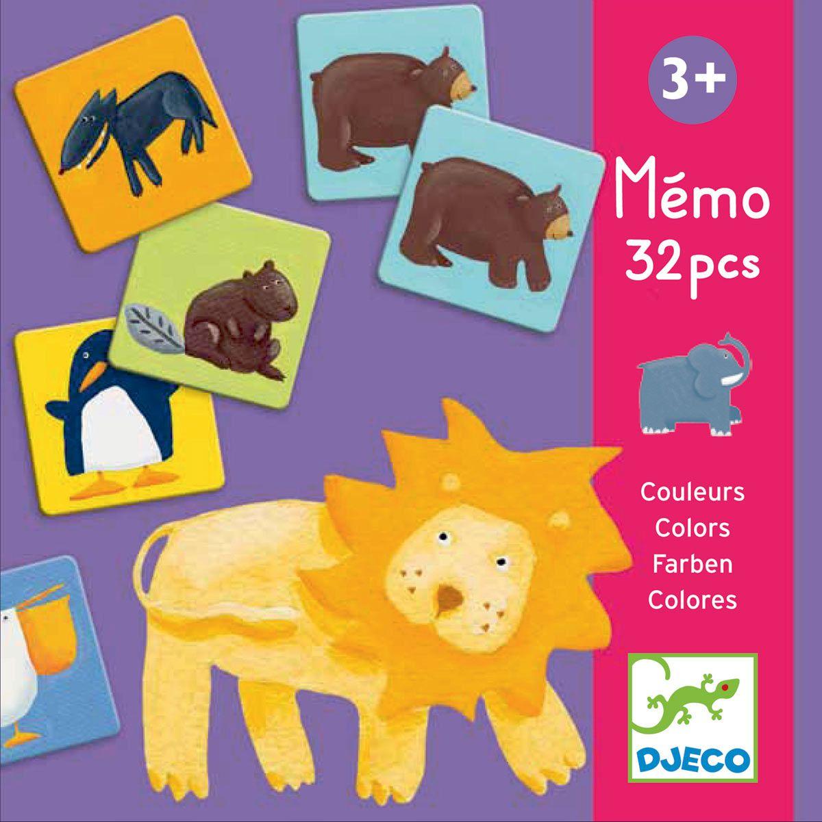 Memória Animais Coloridos - Djeco