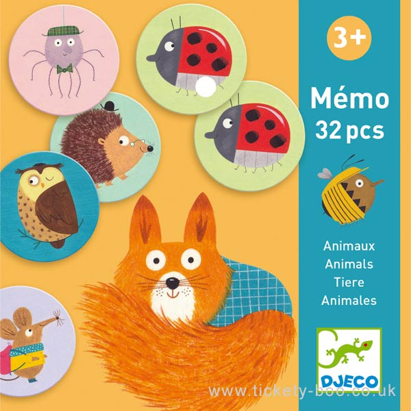 Memória Animais - Djeco