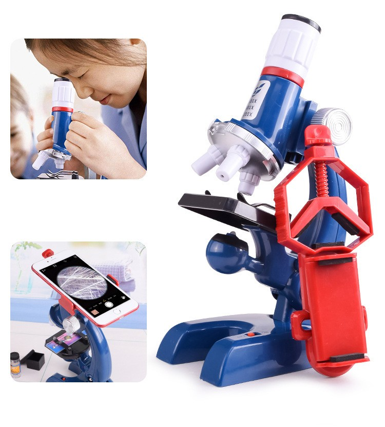 PRÈ VENDA Microscópio Infantil - Aumentos 100x 400x 1200x